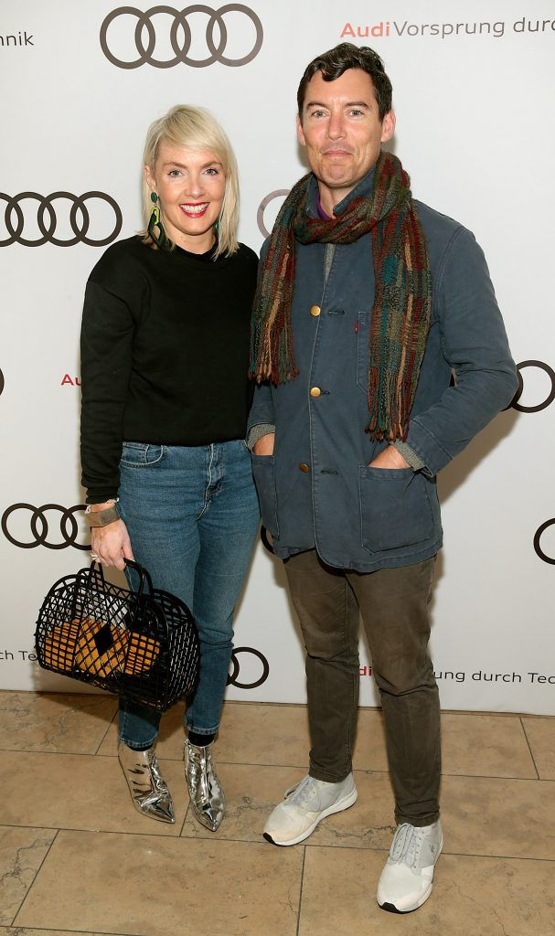 Maeve Barry and Mark Stedman pictured at the all new Audi A8 launch at the RHA Gallery, Dublin. Photo by Brian McEvoy