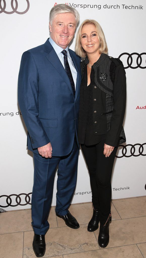 Pat Kenny and Kathy Kenny pictured at the all new Audi A8 launch at the RHA Gallery, Dublin. Photo by Brian McEvoy