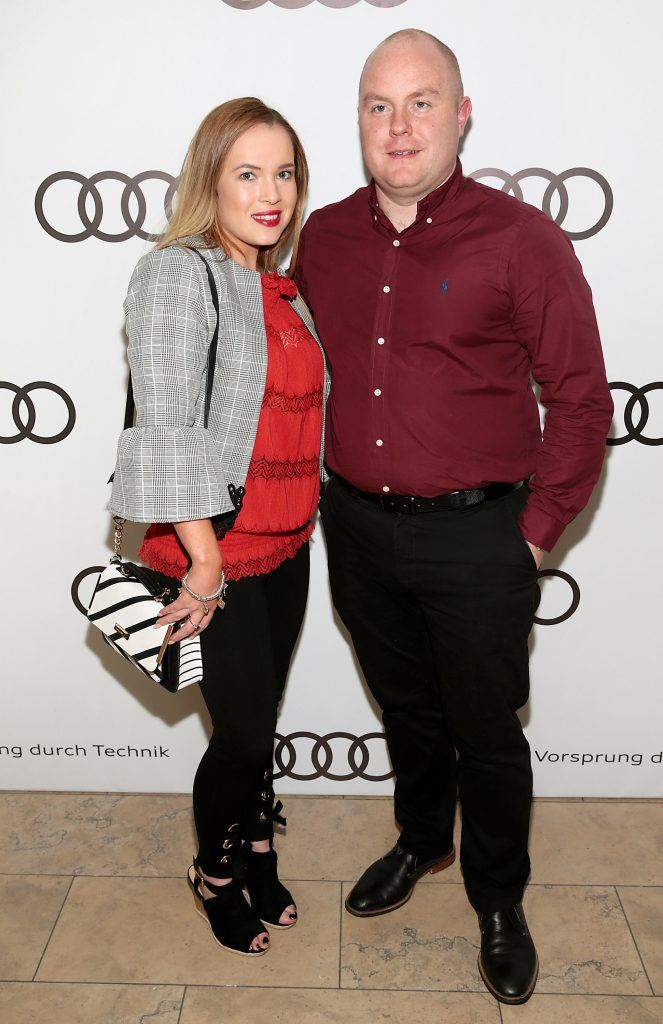 Sorcha Fowler and Stephen Stein pictured at the all new Audi A8 launch at the RHA Gallery, Dublin. Photo by Brian McEvoy