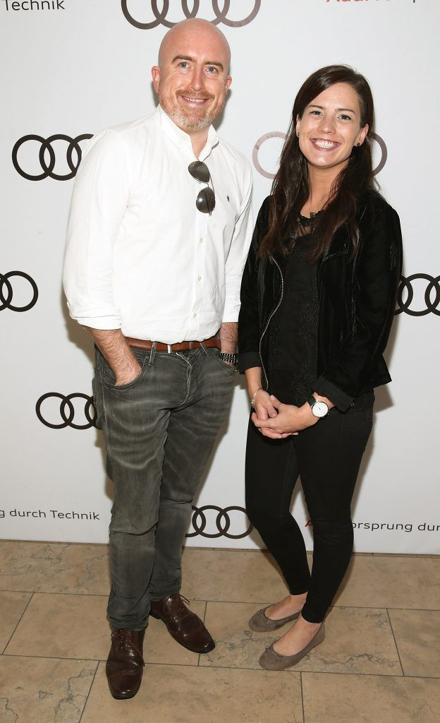 Daragh Keany and Sinead McCann pictured at the all new Audi A8 launch at the RHA Gallery, Dublin. Photo by Brian McEvoy
