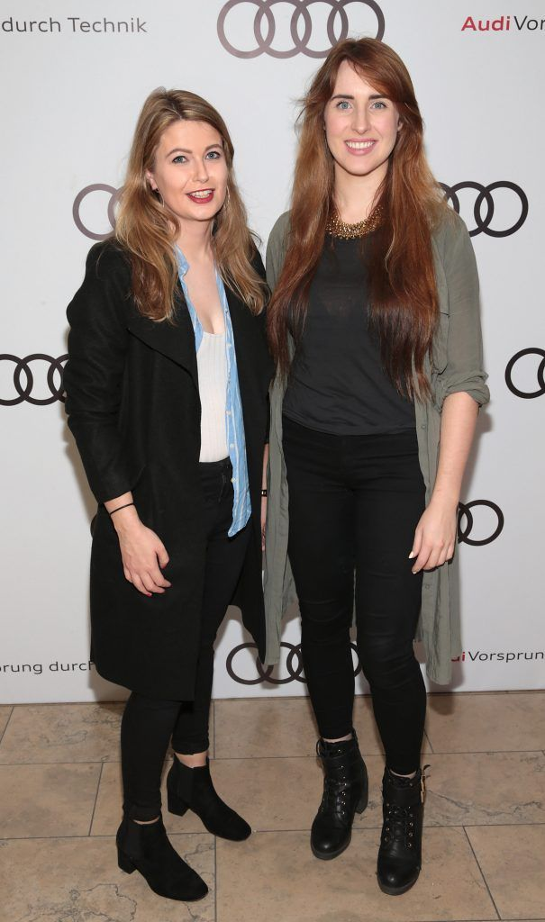 Hannah Popham and Kate Leckie pictured at the all new Audi A8 launch at the RHA Gallery, Dublin. Photo by Brian McEvoy