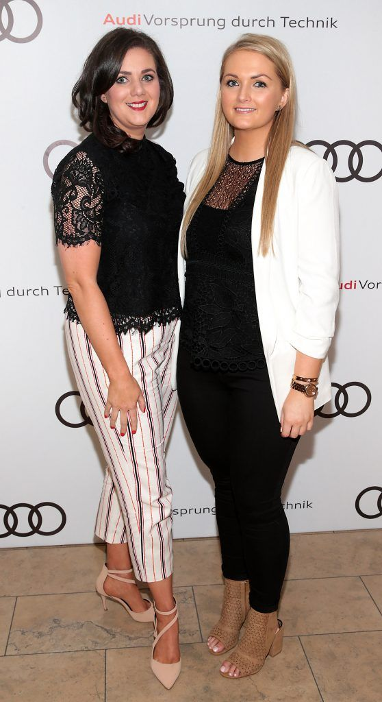 Aine Smyth and Leslie Walsh pictured at the all new Audi A8 launch at the RHA Gallery, Dublin. Photo by Brian McEvoy