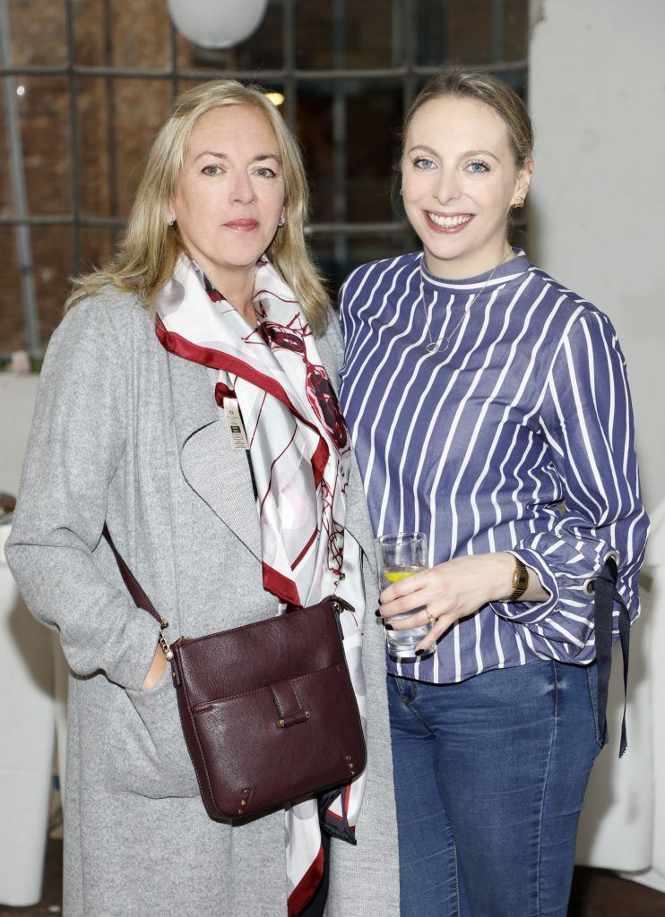 Anne and Sarah McGinn at the iclothing.ie Autumn Winter '17 launch held at the Chocolate Factory. Photo Kieran Harnett
