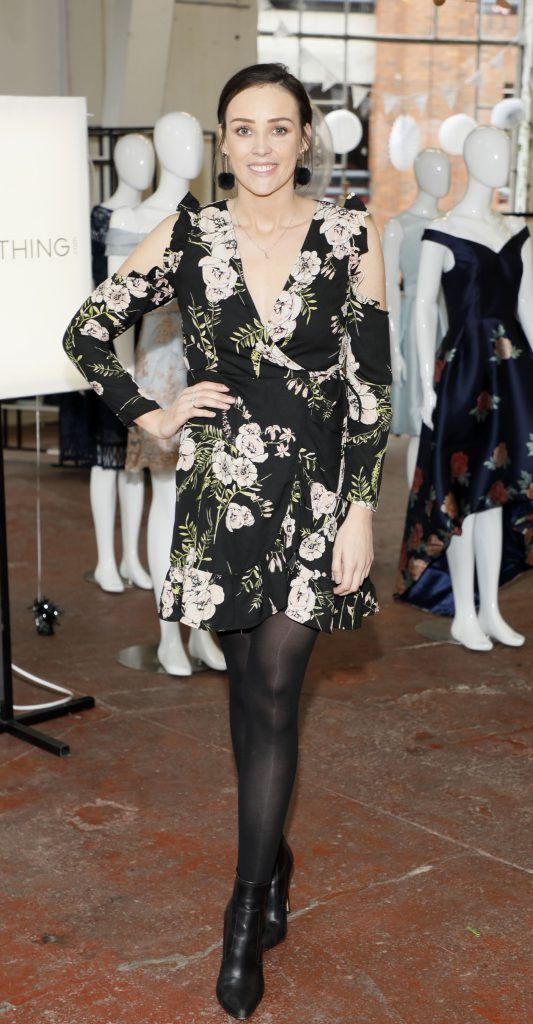 Aoibhinn Stokes at the iclothing.ie Autumn Winter '17 launch held at the Chocolate Factory. Photo Kieran Harnett