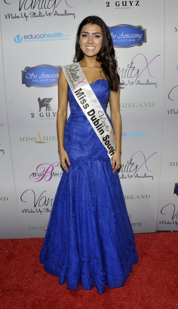 Miss Dublin South Zoe Sohun at the Best of Irish Beauty and Brains Vie For Miss Ireland 2017 Victory. Photo by Patrick O'Leary
