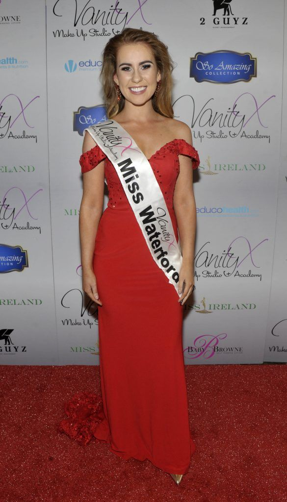 Miss Waterford Kayleigh Hanley at the Best of Irish Beauty and Brains Vie For Miss Ireland 2017 Victory. Photo by Patrick O'Leary