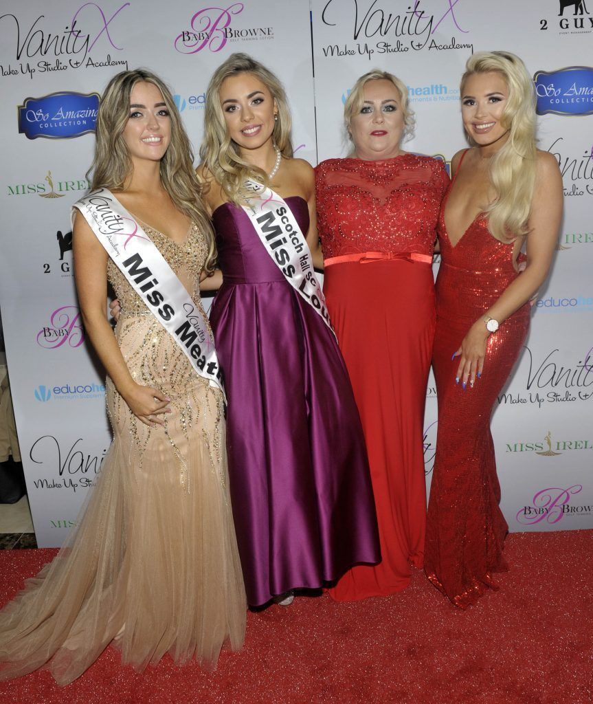 Miss Meath Jessica O Farrell, Miss Louth Emma Griffith, Jenny Russell and Shannen Reilly McGrath at the Best of Irish Beauty and Brains Vie For Miss Ireland 2017 Victory. Photo by Patrick O'Leary