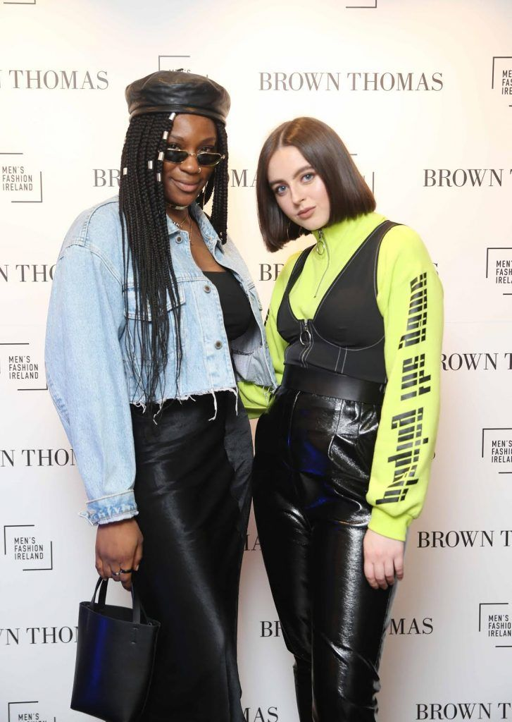 Oyinza and Robin McGonigle at the launch of the new issue of MFI Magazine at Brown Thomas, 28th September 2017. Photo: Sasko Lazarov/Photocall Ireland