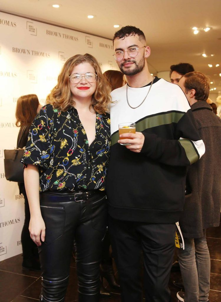 Toine King and Adam Gaffey at the launch of the new issue of MFI Magazine at Brown Thomas, 28th September 2017. Photo: Sasko Lazarov/Photocall Ireland