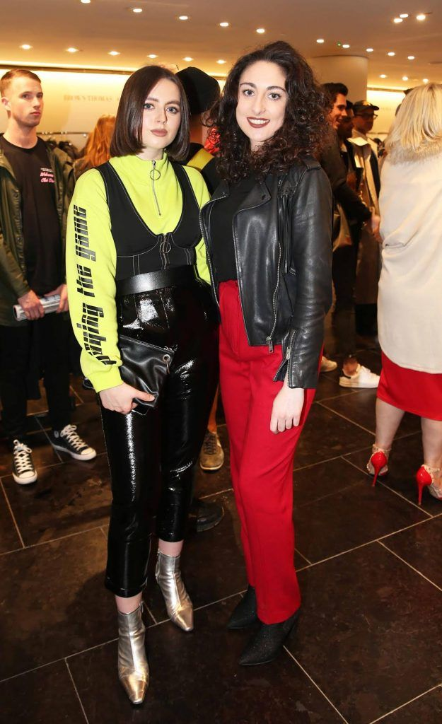 Robin McGonigle and Tamsin Nolan at the launch of the new issue of MFI Magazine at Brown Thomas, 28th September 2017. Photo: Sasko Lazarov/Photocall Ireland