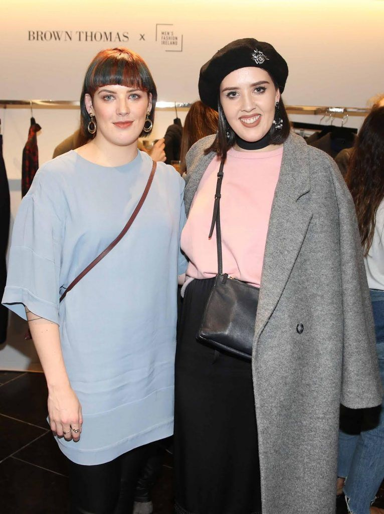 Meghan Costello and Chloe Mahony at the launch of the new issue of MFI Magazine at Brown Thomas, 28th September 2017. Photo: Sasko Lazarov/Photocall Ireland