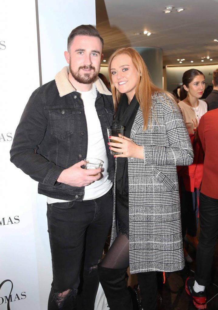 Daren Rabbitt and Ashlin Walsh at the launch of the new issue of MFI Magazine at Brown Thomas, 28th September 2017. Photo: Sasko Lazarov/Photocall Ireland
