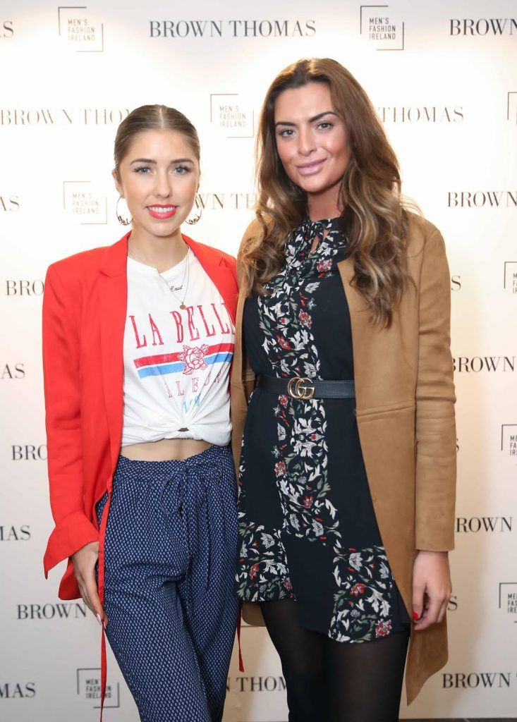 Eria Brockan and Lisa Nolan at the launch of the new issue of MFI Magazine at Brown Thomas, 28th September 2017. Photo: Sasko Lazarov/Photocall Ireland