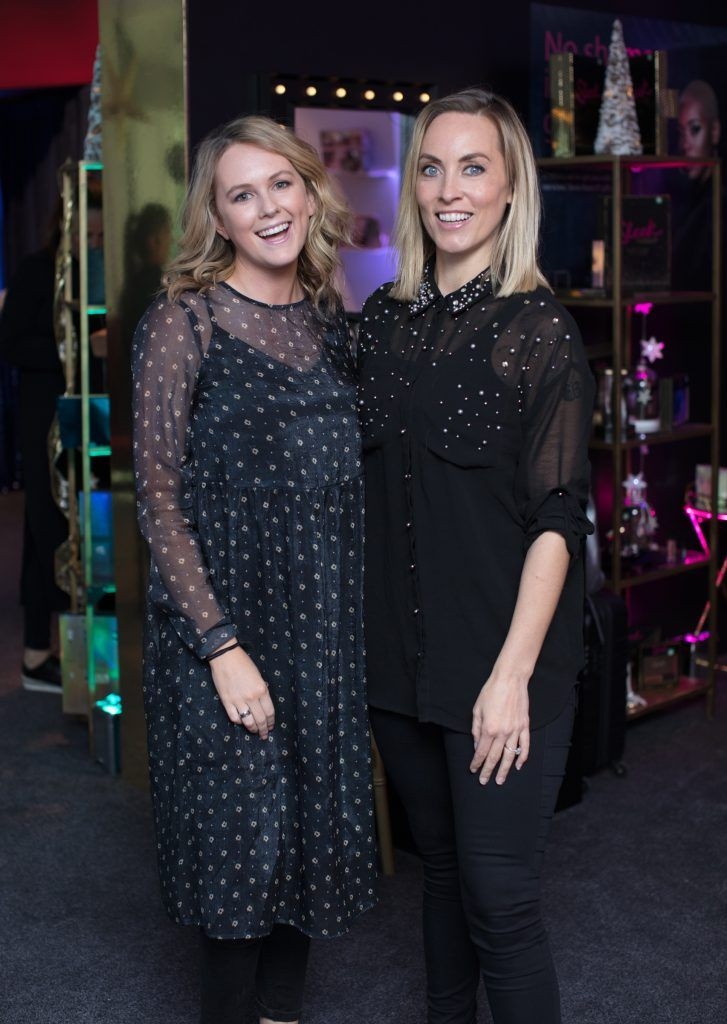 Cassie Stokes & Kathryn Thomas pictured on 3rd October 2017 at the exclusive Boots Christmas preview event in the Bord Gais Energy Theatre. Photo: Anthony Woods