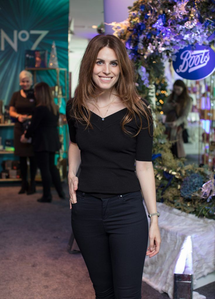 Holly White pictured on 3rd October 2017 at the exclusive Boots Christmas preview event in the Bord Gais Energy Theatre. Photo: Anthony Woods