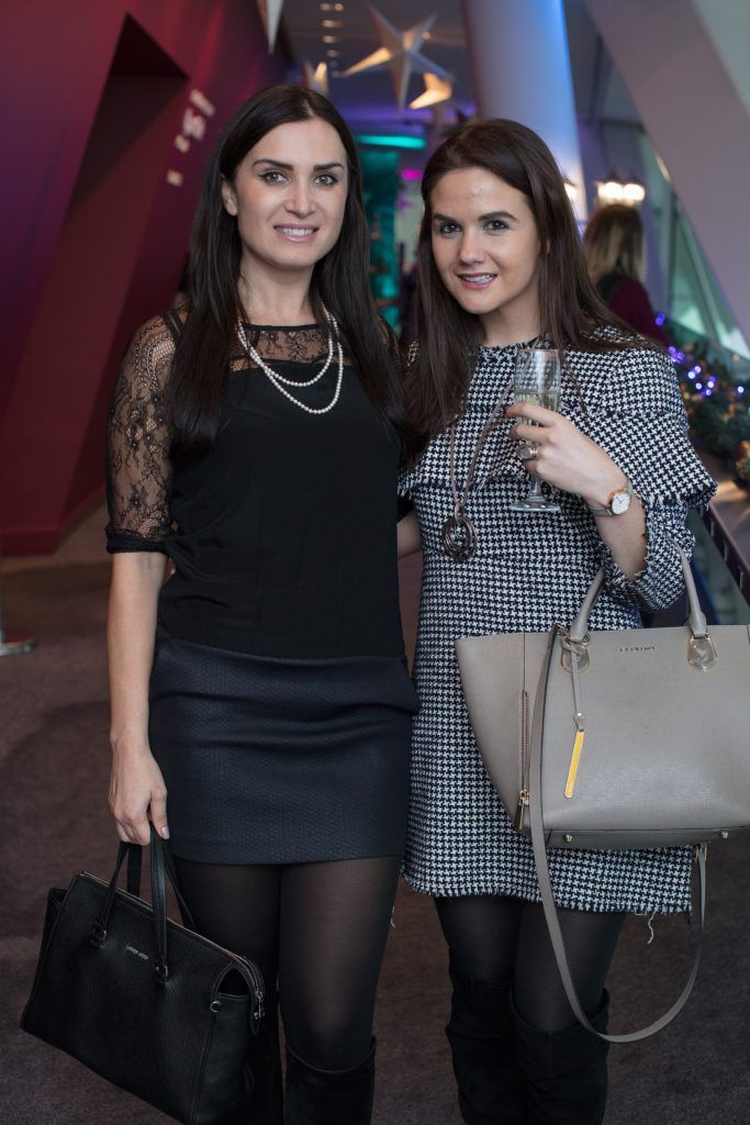 Adina Marinovici & Karla Stein pictured on 3rd October 2017 at the exclusive Boots Christmas preview event in the Bord Gais Energy Theatre. Photo: Anthony Woods