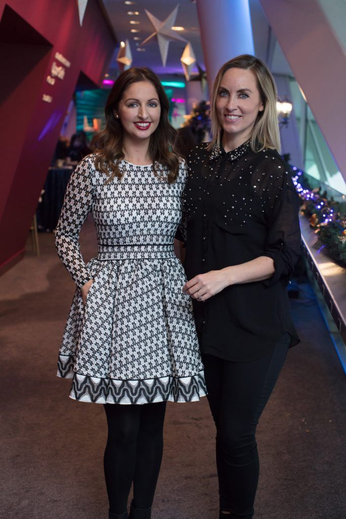 Siobhán McCaul & Kathryn Thomas pictured on 3rd October 2017 at the exclusive Boots Christmas preview event in the Bord Gais Energy Theatre. Photo: Anthony Woods