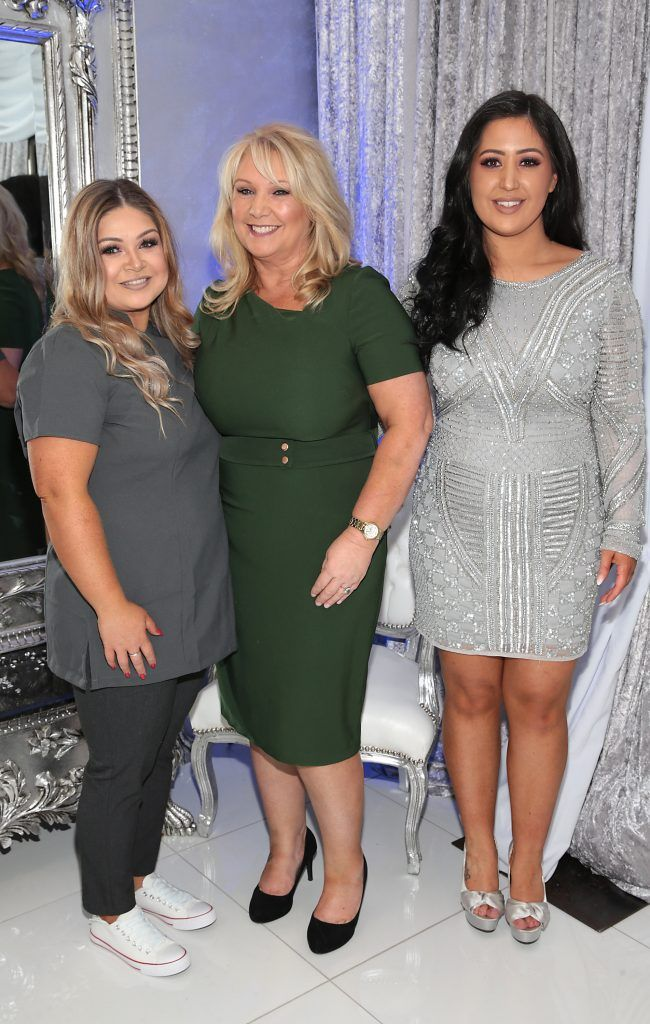 Georgina Kerslake, Marie Kerslake and Michelle Kerslake at the launch of Beautique Beauty Studio in Fashion City, Ballymount, Dublin. Picture: Brian McEvoy