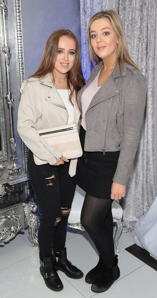 Sarah Hamill and Jennifer Healy Hayes at the launch of Beautique Beauty Studio in Fashion City, Ballymount, Dublin. Picture: Brian McEvoy