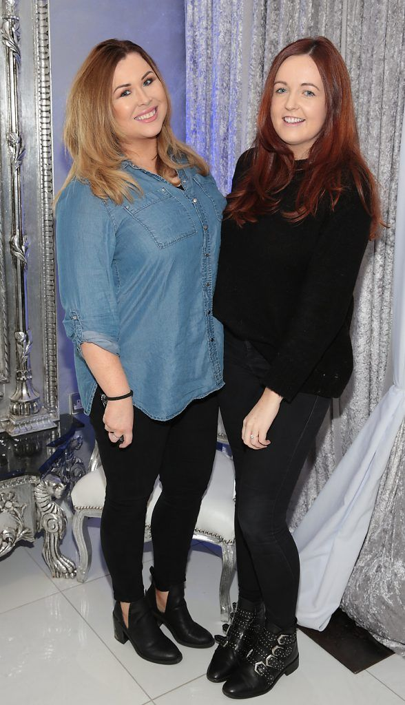 Sobhan McCaffrey and Denise Smith at the launch of Beautique Beauty Studio in Fashion City, Ballymount, Dublin. Picture: Brian McEvoy