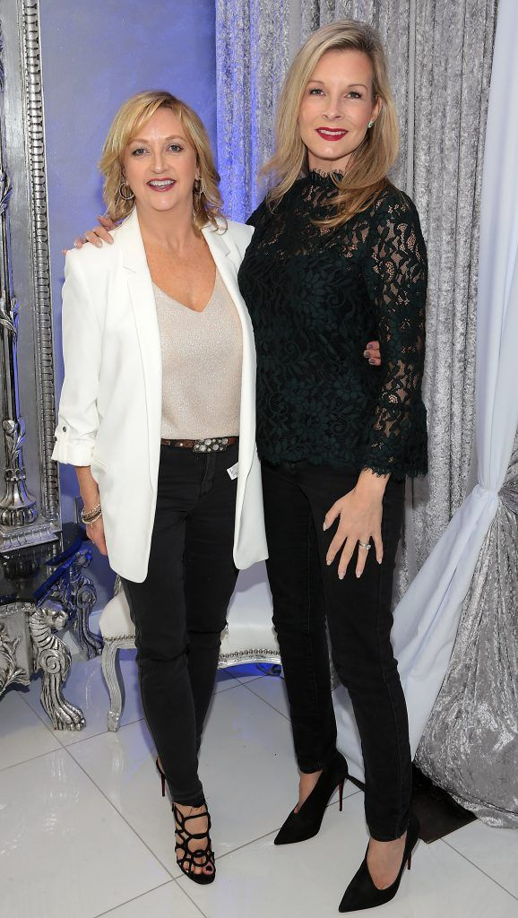 Cathy McCluskey and Helen Flynn at the launch of Beautique Beauty Studio in Fashion City, Ballymount, Dublin. Picture: Brian McEvoy
