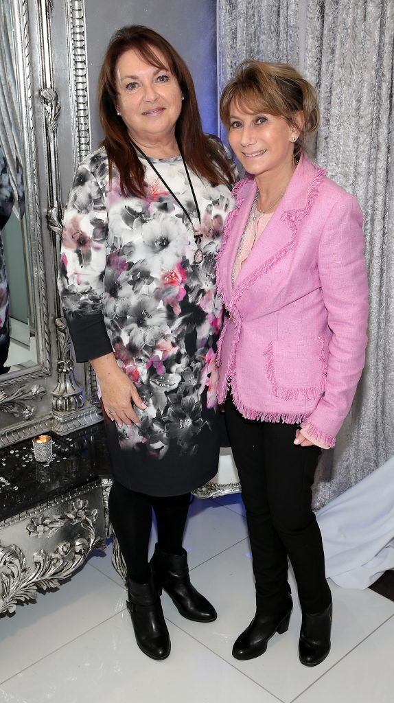 Jane McGarry and Helen Goldin at the launch of Beautique Beauty Studio in Fashion City, Ballymount, Dublin. Picture: Brian McEvoy