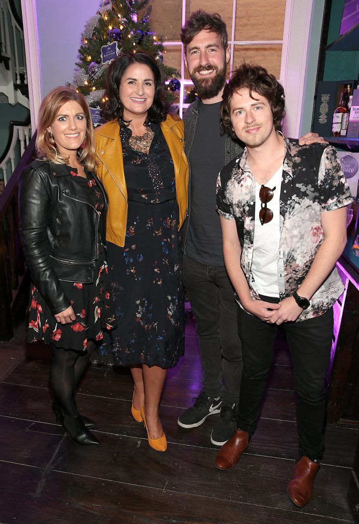 Roisin Murray, Michelle Corbett and Keywest at the Loop at Dublin and Cork Airports Joy of Giving Christmas Preview at Number 4 Parliament Street. Picture: Brian McEvoy