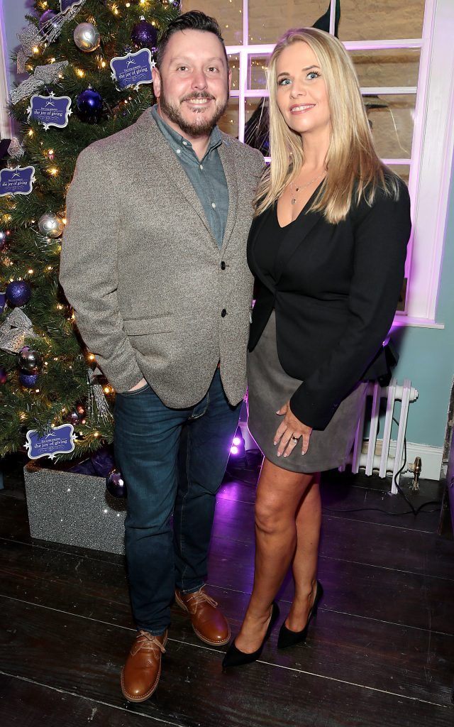Keith Mahon and Jules Mahon at the Loop at Dublin and Cork Airports Joy of Giving Christmas Preview at Number 4 Parliament Street. Picture: Brian McEvoy
