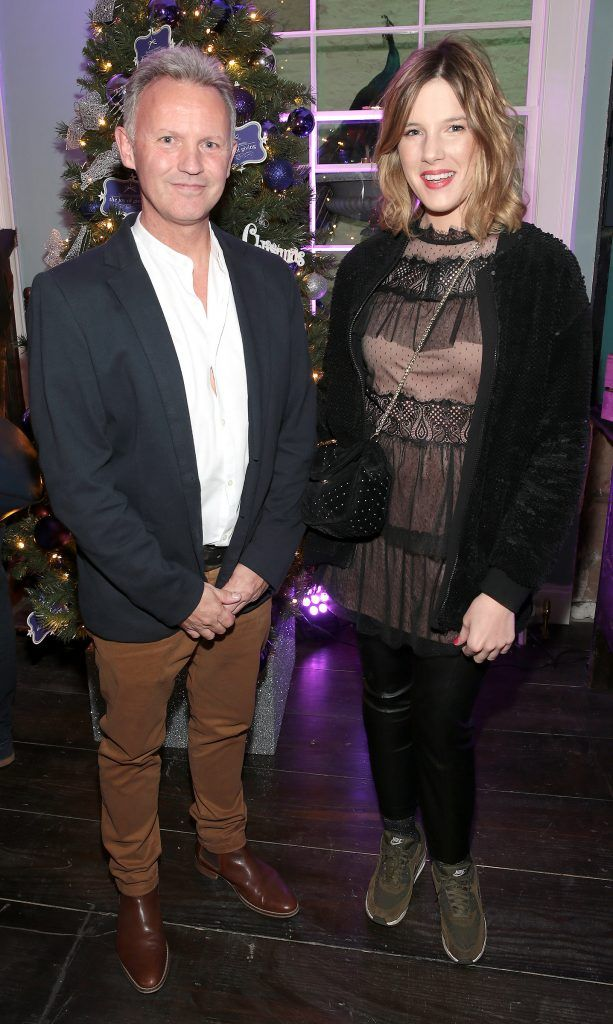 Martin Carpenter and Elle Gordon at the Loop at Dublin and Cork Airports Joy of Giving Christmas Preview at Number 4 Parliament Street. Picture: Brian McEvoy