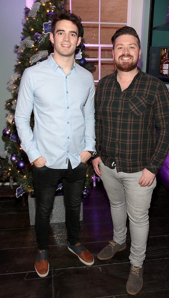 Peter Collins and Tomas Crosse at the Loop at Dublin and Cork Airports Joy of Giving Christmas Preview at Number 4 Parliament Street. Picture: Brian McEvoy