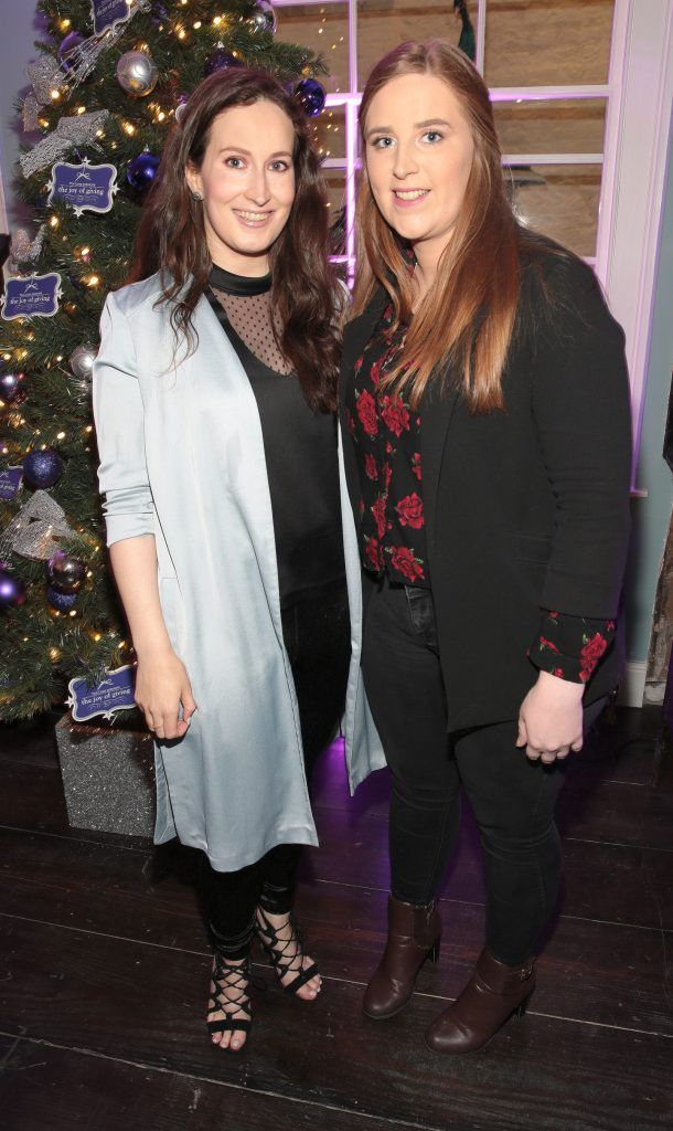 Blathin De Paor and Emer O Reiilly at the Loop at Dublin and Cork Airports Joy of Giving Christmas Preview at Number 4 Parliament Street. Picture: Brian McEvoy