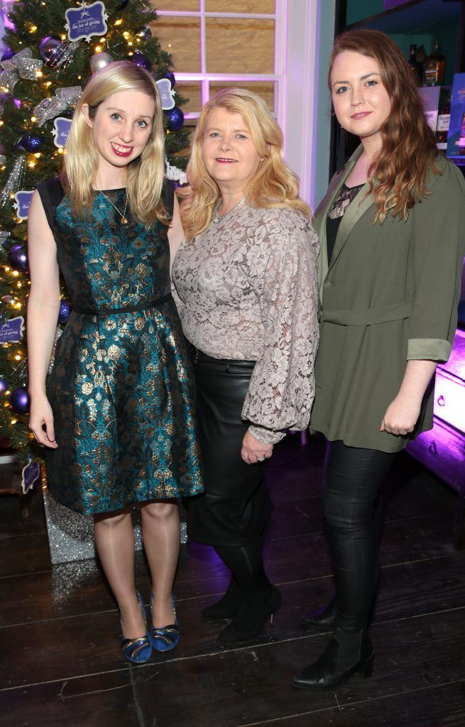 Claire Hyland, Liz Doyle and Niamh Campbell at the Loop at Dublin and Cork Airports Joy of Giving Christmas Preview at Number 4 Parliament Street. Picture: Brian McEvoy