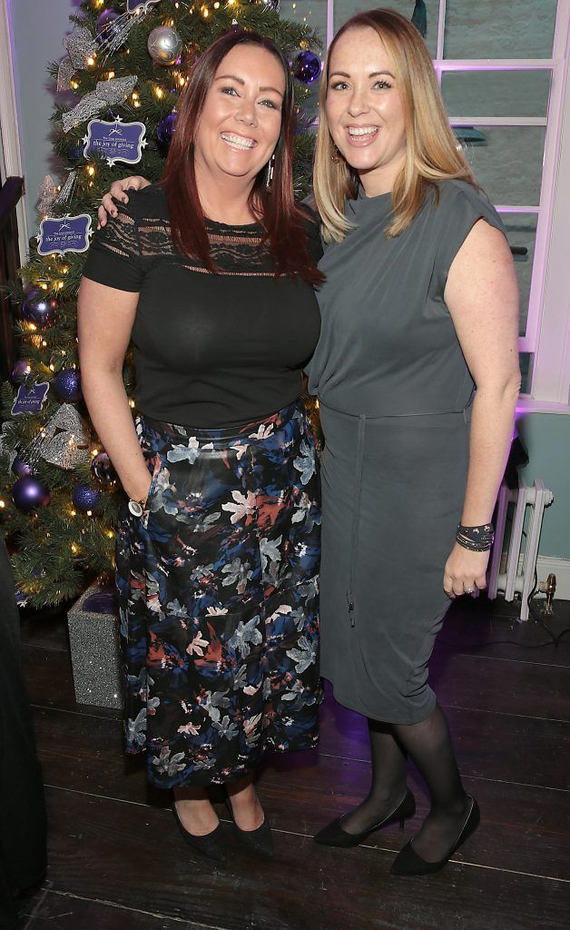 Linda Maher and Lisa Brady at the Loop at Dublin and Cork Airports Joy of Giving Christmas Preview at Number 4 Parliament Street. Picture: Brian McEvoy