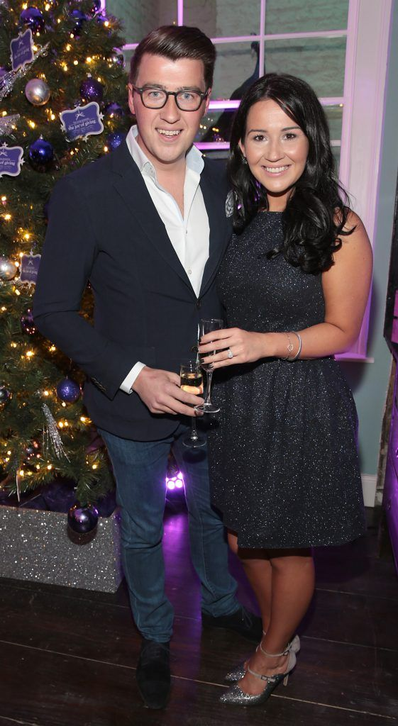 Matt Mackey and Anita Ross at the Loop at Dublin and Cork Airports Joy of Giving Christmas Preview at Number 4 Parliament Street. Picture: Brian McEvoy