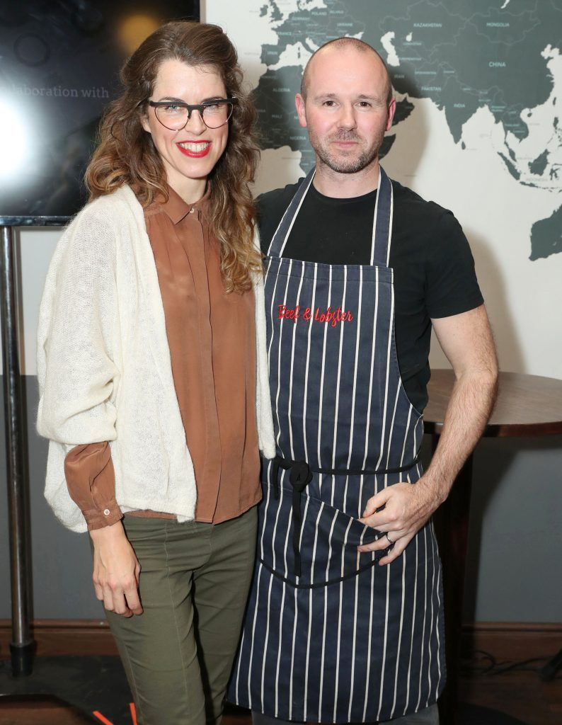 Susan Jane White and Chef Oliver Dunne pictured at the official Sage Appliances Launch Event in Ireland which took place in Two Fitfty Square, Rathmines (4th October 2017). Pic: Marc O'Sullivan