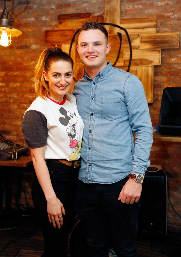 Pictured are (LtoR) Courtney Smith and Cian Brennan at the first birthday celebrations of Wishbone restaurant, Montague Lane, D2. Photo: Sasko Lazarov/Photocall Ireland