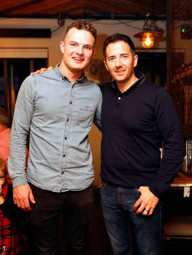 Pictured are (LtoR) Cian Brennan and David Clarke at the first birthday celebrations of Wishbone restaurant, Montague Lane, D2. Photo: Sasko Lazarov/Photocall Ireland