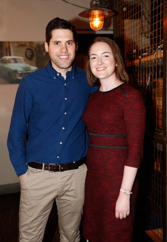 Pictured are (LtoR) Jonathan and Aisling Morrough at the first birthday celebrations of Wishbone restaurant, Montague Lane, D2. Photo: Sasko Lazarov/Photocall Ireland