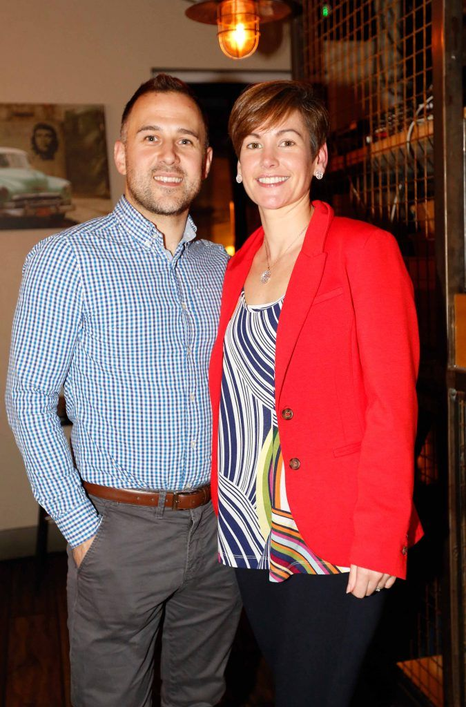 Pictured are (LtoR) Niall and Fiona Clarke at the first birthday celebrations of Wishbone restaurant, Montague Lane, D2. Photo: Sasko Lazarov/Photocall Ireland