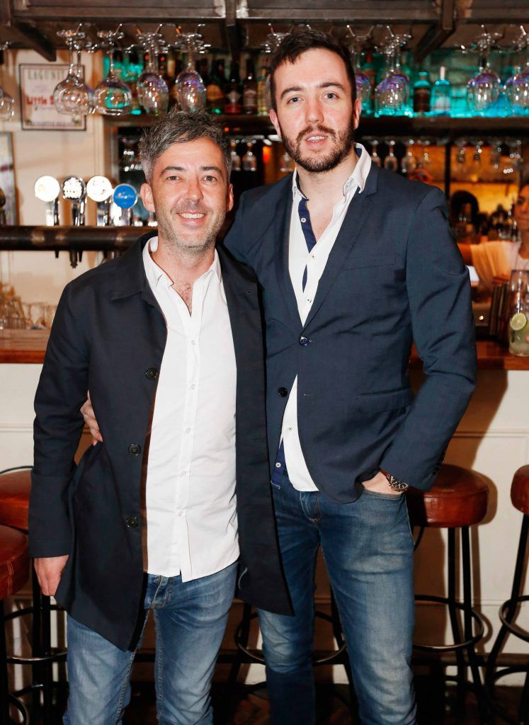 Pictured are (LtoR) James Stimpson and Luke Murphy at the first birthday celebrations of Wishbone restaurant, Montague Lane, D2. Photo: Sasko Lazarov/Photocall Ireland