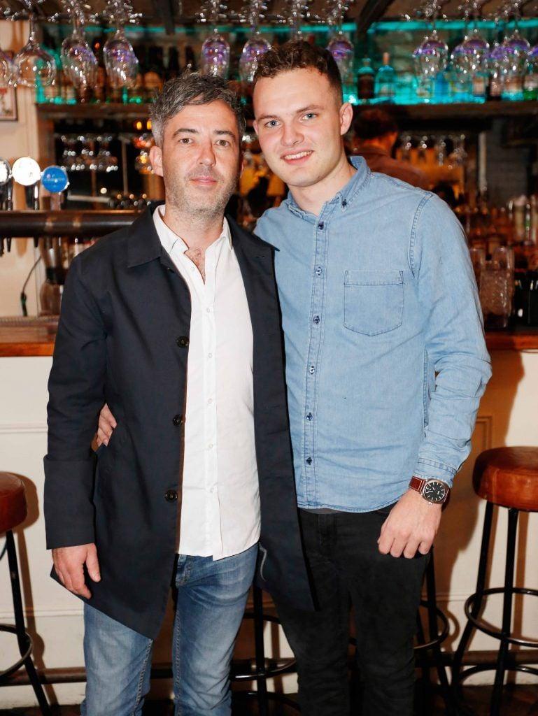 Pictured are (LtoR) James Stimpson and Cian Brennan at the first birthday celebrations of Wishbone restaurant, Montague Lane, D2. Photo: Sasko Lazarov/Photocall Ireland