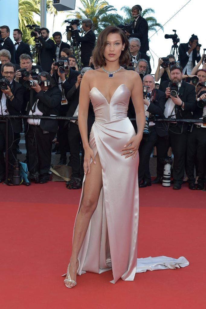 Bella Hadid attends the 'Ismael's Ghosts (Les Fantomes d'Ismael)' screening and Opening Gala during the 70th annual Cannes Film Festival at Palais des Festivals on May 17, 2017 in Cannes, France.  (Photo by Pascal Le Segretain/Getty Images)