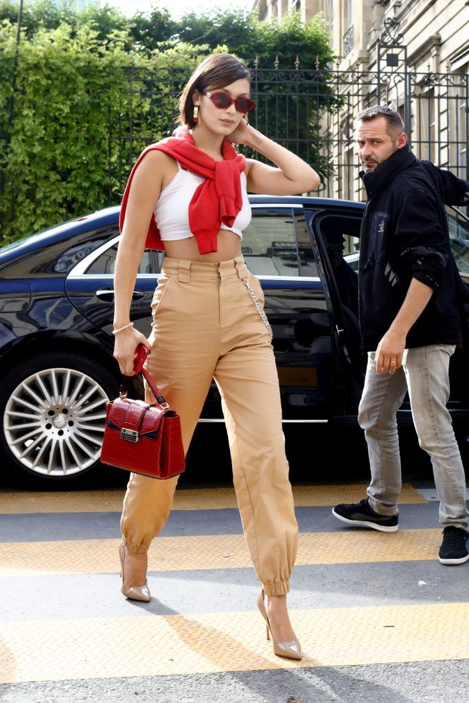 Bella Hadid out and about in Paris on 01 Jul 2017 (Photo by WENN.com)