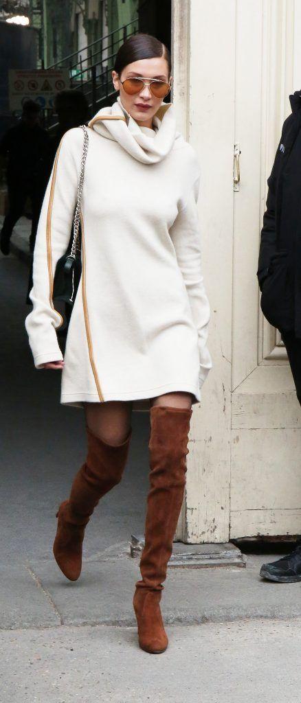Bella Hadid at Paris Fashion Week Haute Couture Spring/Summer 2017 (Photo by WENN.com)