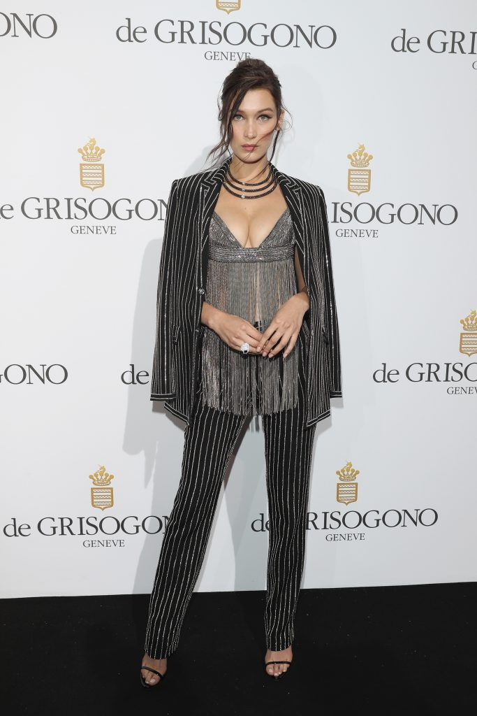 Bella Hadid attends the De Grisogono Party at the annual 69th Cannes Film Festival at Hotel du Cap-Eden-Roc on May 17, 2016 in Cap d'Antibes, France.  (Photo by Andreas Rentz/Getty Images)