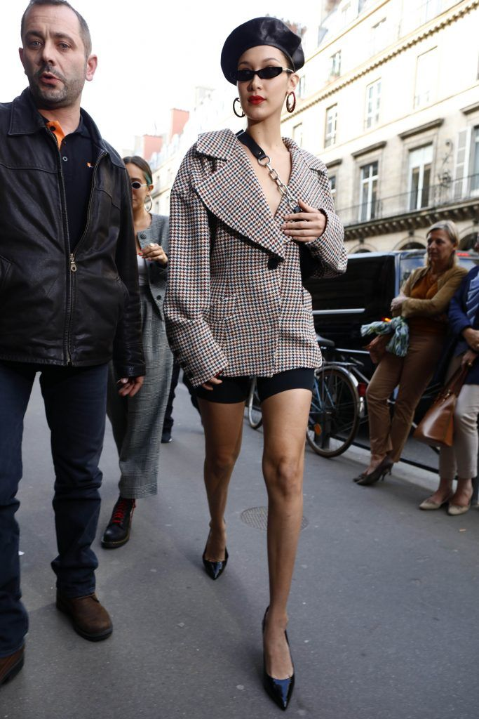 Bella Hadid out and about in Paris on 27 Sep 2017 (Photo by WENN.com)