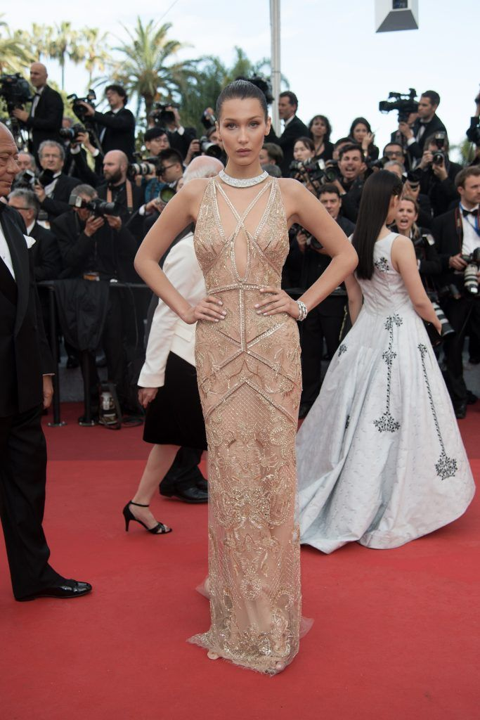 Bella Hadid at the 69th Cannes Film Festival - Opening Night Gala & 'Cafe Society' Premiere on 11 May 2016 (Photo by WENN.com)
