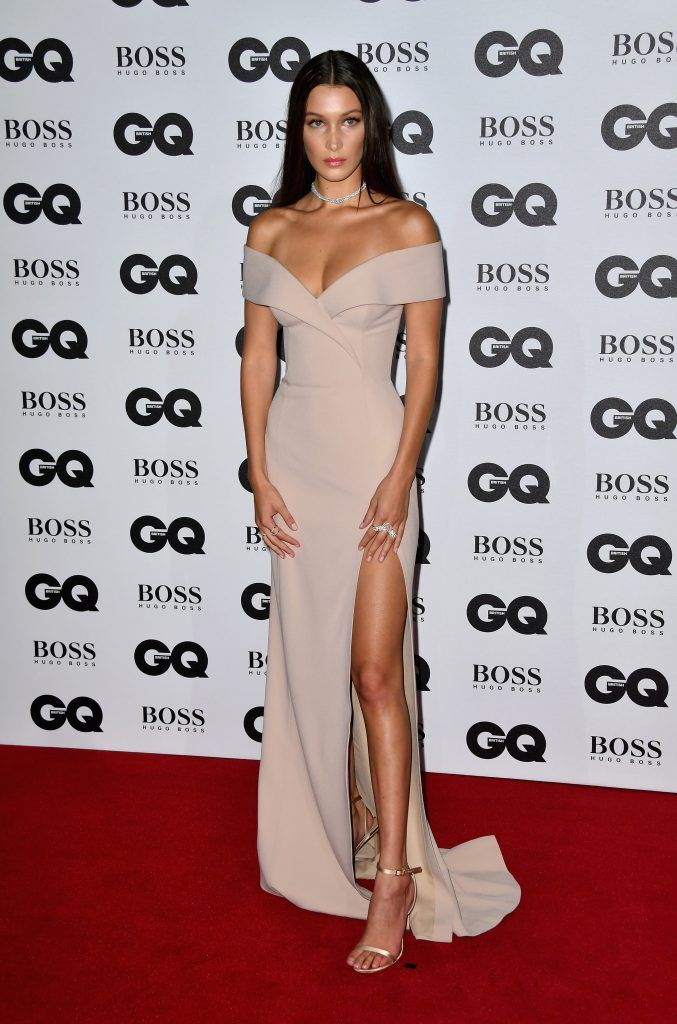 Bella Hadid arrives for GQ Men Of The Year Awards 2016 at Tate Modern on September 6, 2016 in London, England.  (Photo by Gareth Cattermole/Getty Images)