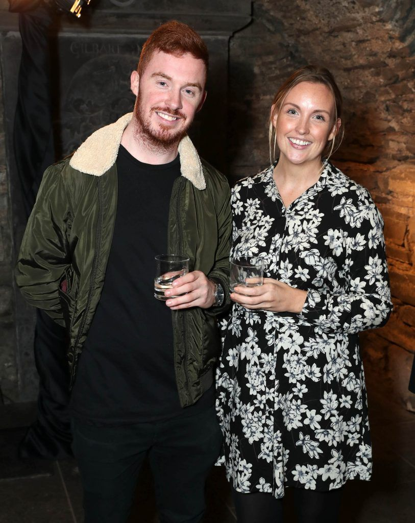 Karl Cummins and Niamh Ryan pictured at SuperValu's #WhiskeyExclusives event in The Crypt at Christchurch Cathedral on 11th October 2017. Guests got to enjoy a selection of Premium Irish Whiskey. Pic: Marc O'Sullivan