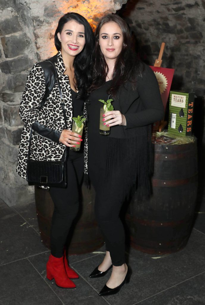 Karen Geary and Jenny Young pictured at SuperValu's #WhiskeyExclusives event in The Crypt at Christchurch Cathedral on 11th October 2017. Guests got to enjoy a selection of Premium Irish Whiskey. Pic: Marc O'Sullivan